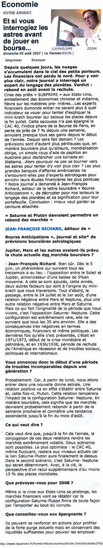 le parisien Aout 2007